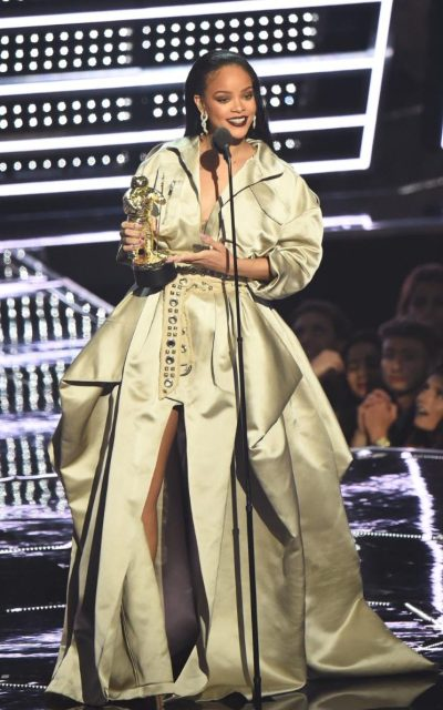 Rihanna in Alexandra Vaulthier Couture