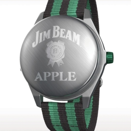 The Jim Beam(R) Apple Watch, a product over 200 plus years in the making, is a multi-functional device that will pour a perfect, refreshingly crisp shot. (PRNewsFoto/Beam Suntory Inc.)