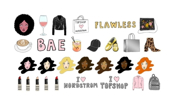 Nordstrom and Topshop Emoji App