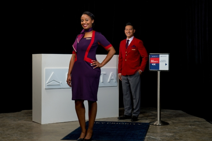 Delta Air Lines Above Wing Uniforms