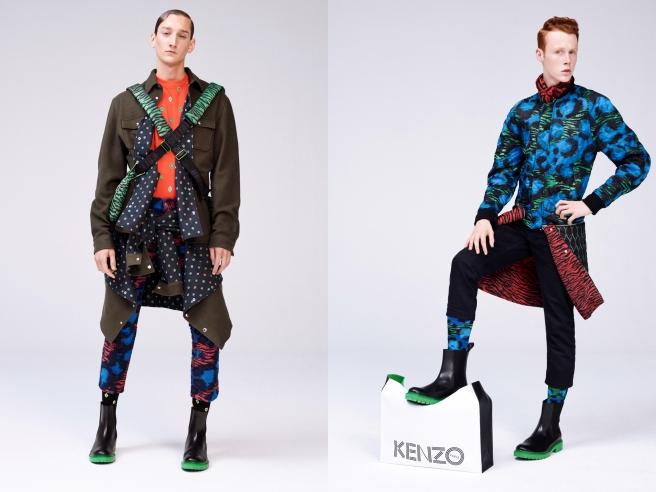 KENZO x H&M- (L) Model, Tom Gaskin (R) Model, Pierre Painchaud