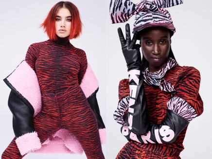KENZO x H&M - (L) Makeup Artist, Isamaya Ffrench (R) Writer and Activist, Amy Sall