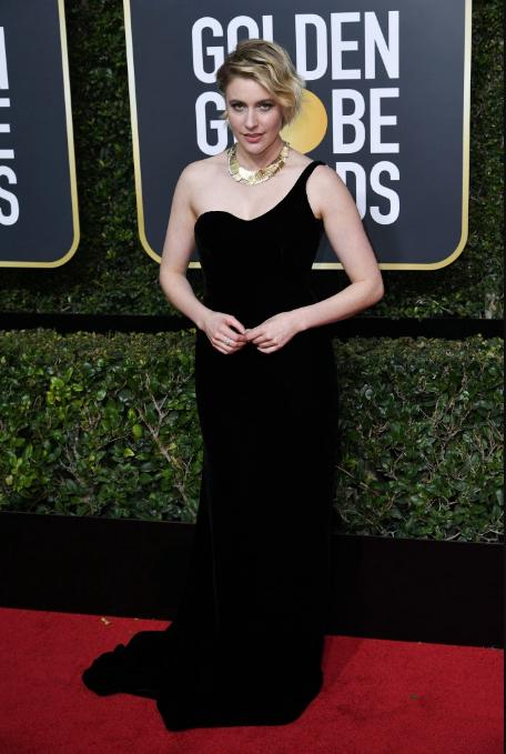 Greta Gerwin in Oscar de la Renta