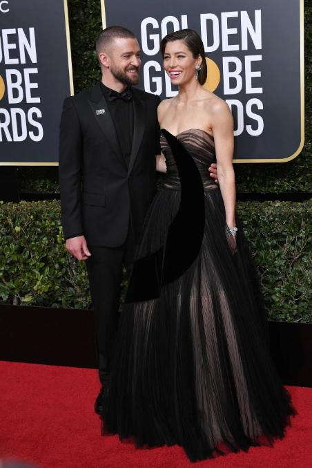Jessica Biel in Dior with Justin Timberlake