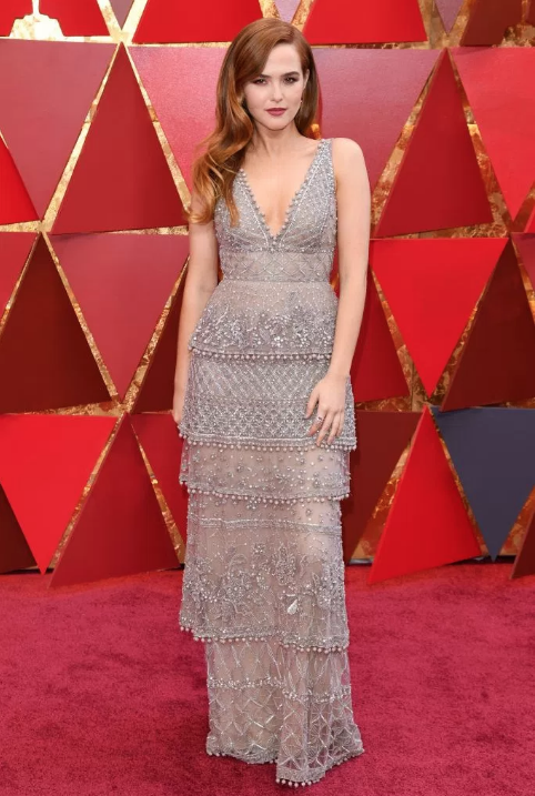 Zoey Deutch in Elie Saab