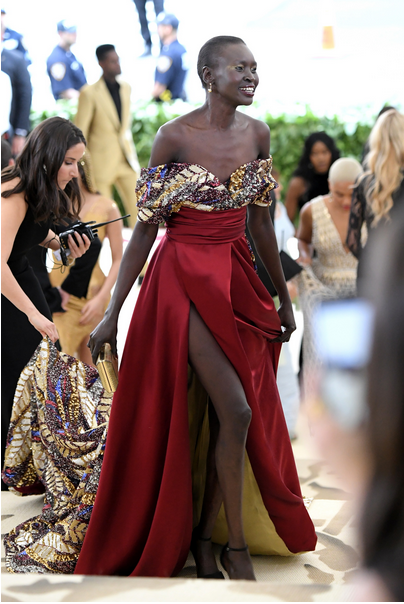 Alek Wek in H&M