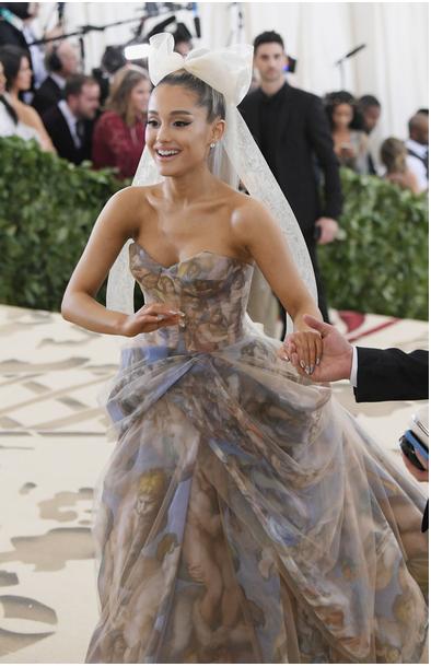 Ariana Grande in Vera Wang