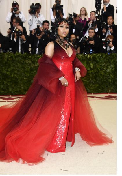 Nicki Minaj in Oscar de la Renta